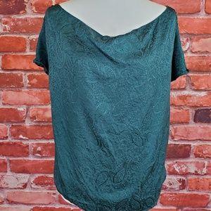 Green silk top Maison Scotch blouse 1